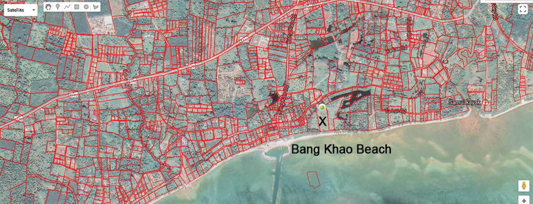 6.3 Rai Beach Land For Sale Koh Samui, Bang Khao Beach (Thai-Real.com)