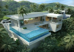 Koh samui, sea view, ocean views, sunset, luxury villa