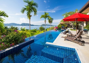 Indochina, Phuket, luxury villa, ocean views, resort facilities